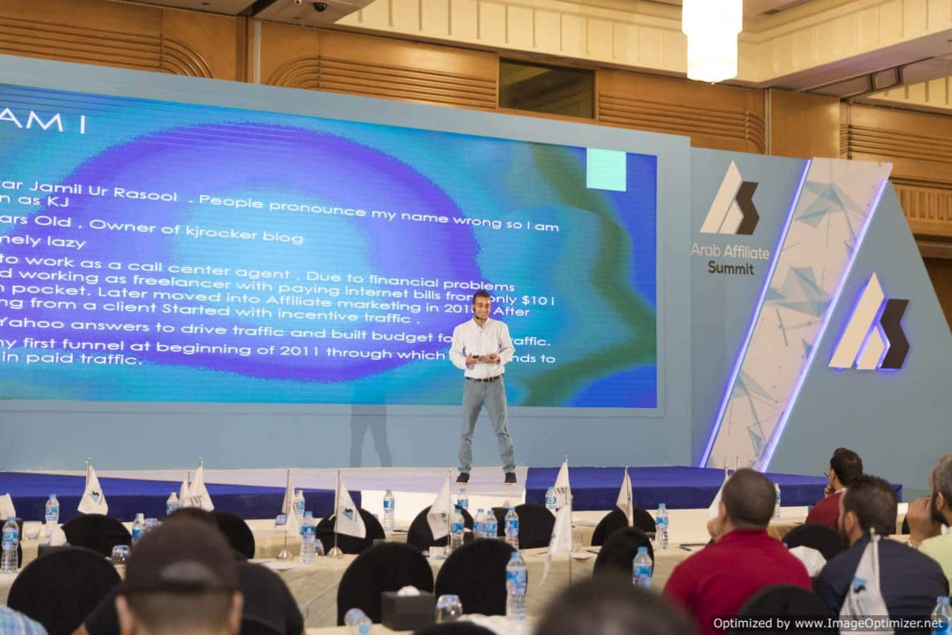 Kj Rocker Speaking at Arab Affilate Summit 2017