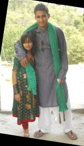 A photo With my younger sister