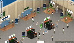 expo hall booth