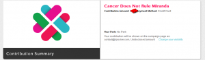cancer donation