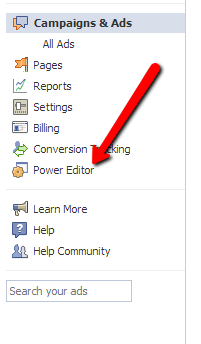 Facebook ads power editor