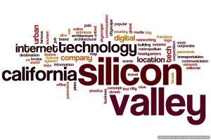 Silicon valley word cloud concept