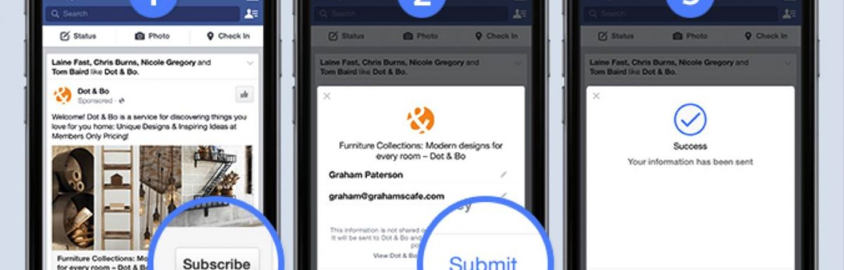 Two New Ad Types from Facebook Designed to Generate Direct Leads