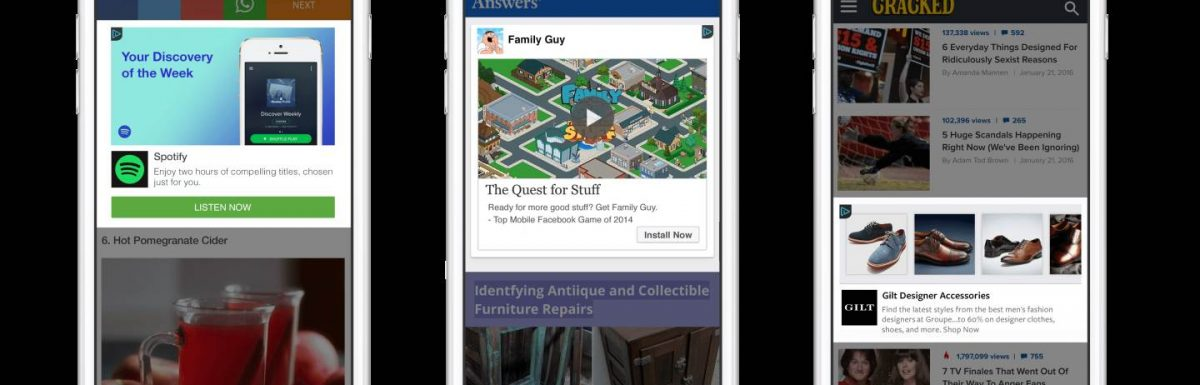 Facebook Audience Network Now Open for All Advertisers