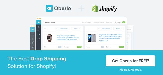Oberlo Shopify Plugin
