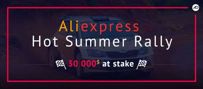 Win $30,000 cash with Hot Summer Rally from admitad & AliExpress